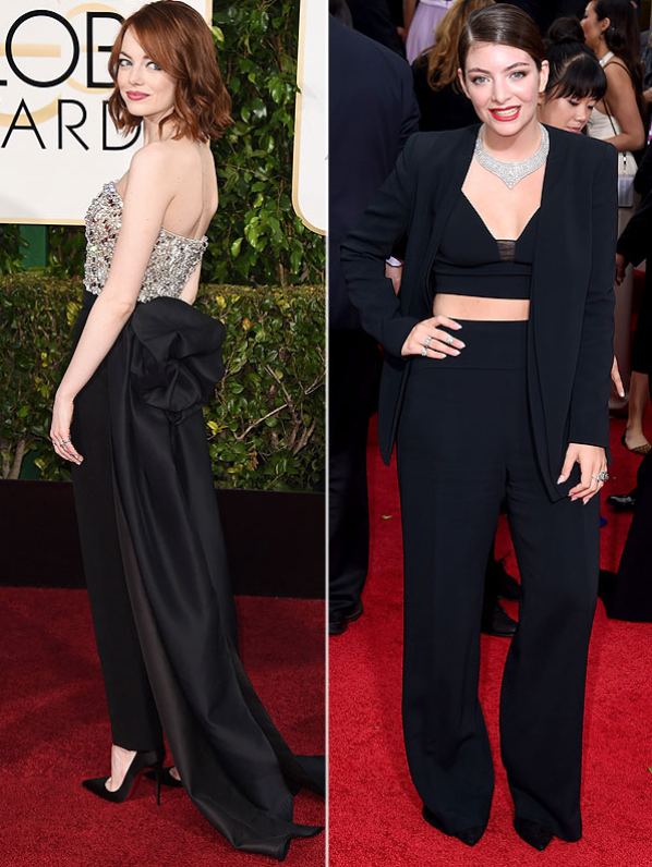 Emma Stone in Lorde in Source: Getty Images