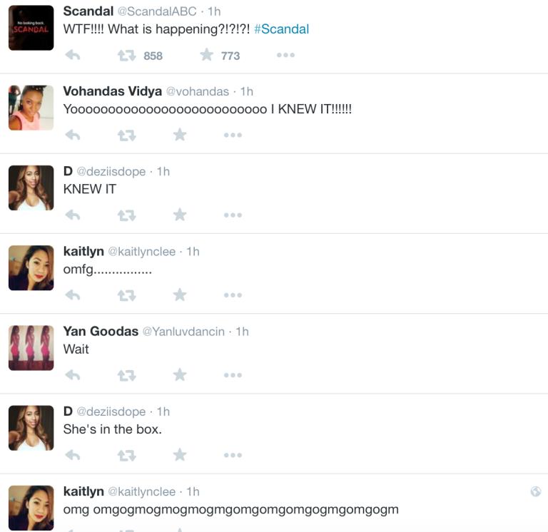 scandal tweets crazy